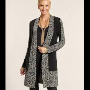 Chico's 'Ancient Scroll' Long Cardigan